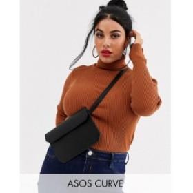 エイソス ASOS Curve レディース ボディバッグ・ウエストポーチ バッグ asos design curve flat bum bag ブラック