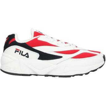 《セール開催中》FILA メンズ スニーカー&テニスシューズ(ローカット) レッド 7 革 / 紡績繊維