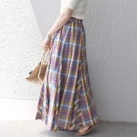 [マルイ]【セール】マドラスチェックギャザースカート/シップス(レディース)(SHIPS for women)