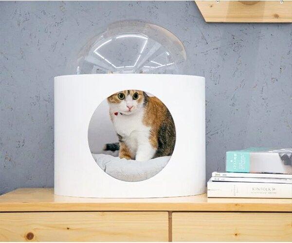 Myzoo 太空計畫-BETA 白色 實木貓屋 貓籠 貓咪窩 寵物用品 動物緣【BK1745】Loxin