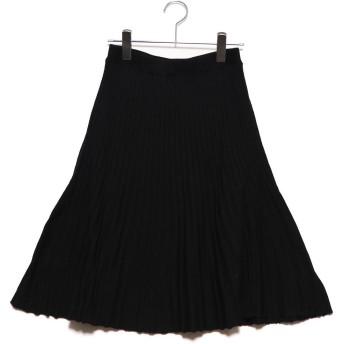 ディノス dinos プリーツ風ニットスカート (ブラック)
