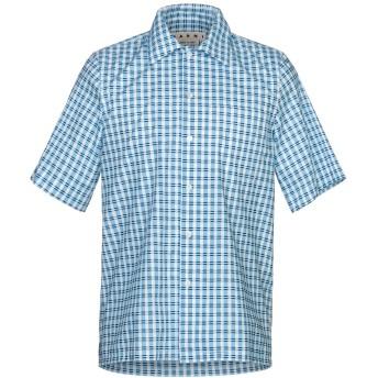 《セール開催中》MARNI メンズ シャツ アジュールブルー 46 コットン 100%