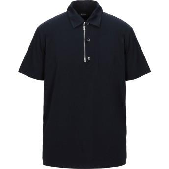 《セール開催中》DIRK BIKKEMBERGS メンズ ポロシャツ ダークブルー S コットン 66% / シルク 24% / ポリウレタン 10%