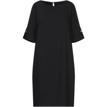 《セール開催中》ATOS LOMBARDINI レディース ミニワンピース&ドレス ブラック 38 ポリエステル 100%