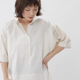 Helen Linen Cotton Wide Shirt Top /Linen