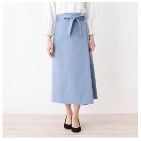 【スープ/SOUP】 innowave シャンブレーサイドラップスカート
