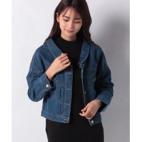 【7%OFF】 神戸レタス バックボタン付きゆるジャケット [K829] レディース ブルー ワンサイズ(M) 【KOBE LETTUCE】 【タイムセール開催中】
