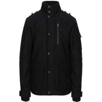 《セール開催中》JACK & JONES CORE メンズ コート ブラック S ポリエステル 55% / ウール 40% / 指定外繊維 5%