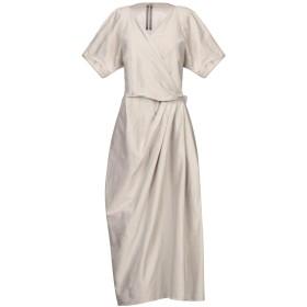 《セール開催中》RICK OWENS レディース 7分丈ワンピース・ドレス グレー 38 コットン 77% / シルク 23%