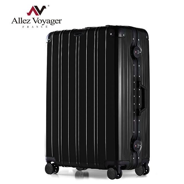 法國 奧莉薇閣無與倫比的美麗pc26吋防撞金屬鋁框耐撞擊行李箱