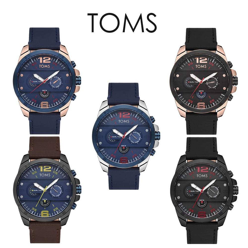 TOMS 競速三眼皮帶手錶(71693)