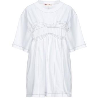 《セール開催中》MARNI レディース T シャツ ホワイト 42 コットン 100%