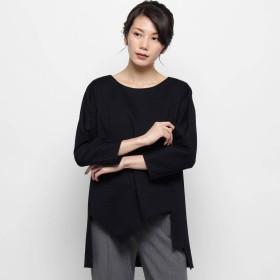 モディファイ Modify バックジップ裾アシメプルオーバー (ブラック)