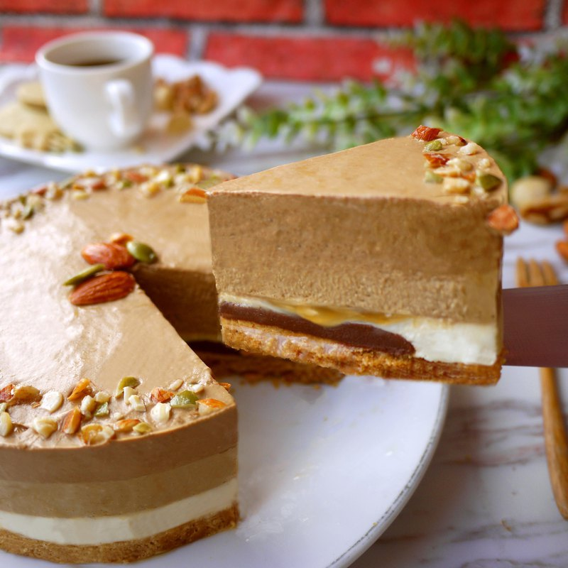 【端午節】海鹽焦糖摩卡慕斯蛋糕-香濃乳酪味-母親節蛋糕