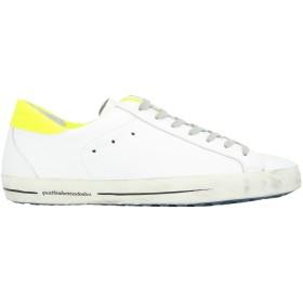 《期間限定セール開催中!》QUATTROBARRADODICI メンズ スニーカー&テニスシューズ(ローカット) ホワイト 43 革 / 紡績繊維