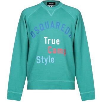 《セール開催中》DSQUARED2 メンズ スウェットシャツ グリーン S コットン 100%