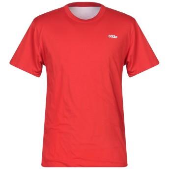 《セール開催中》032C メンズ T シャツ レッド M コットン 100%