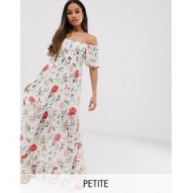 ヴィラ Vila Petite レディース ワンピース マキシ丈 ワンピース・ドレス square neck smocked soft floral maxi dress