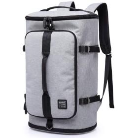 YIYUTING キャンプリュック大容量旅行多機能バッグ男性ショルダーコンピュータのバックパック (色 : グレー)