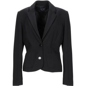 《期間限定セール開催中!》ARMANI JEANS レディース テーラードジャケット ブラック 46 レーヨン 67% / ナイロン 28% / ポリウレタン 5% / コットン / 指定外繊維