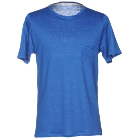 《セール開催中》GRAN SASSO メンズ T シャツ ブルー 48 麻 100%