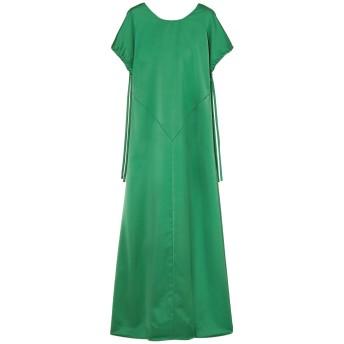 《セール開催中》CEDRIC CHARLIER レディース ロングワンピース&ドレス エメラルドグリーン 42 ポリエステル 100%