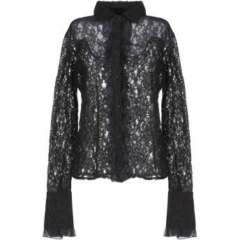 《セール開催中》PINK MEMORIES レディース シャツ ブラック 42 レーヨン 100% / コットン / ナイロン