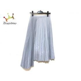 ロージーモンスター ロングスカート サイズM レディース 美品 ライトグレー プリーツ   スペシャル特価 20200108
