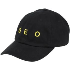 《期間限定セール開催中!》GEO メンズ 帽子 ブラック one size コットン 100%
