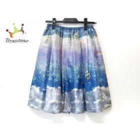 フランシュリッペ franchelippee スカート サイズM レディース 美品 ライトブルー×マルチ 新着 20191016