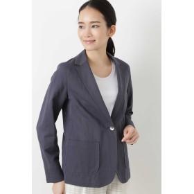 HUMAN WOMAN(ヒューマン ウーマン)/◆綿麻ツイルジャケット