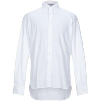《セール開催中》HENRY SMITH メンズ シャツ ホワイト 42 コットン 97% / ポリウレタン 3%