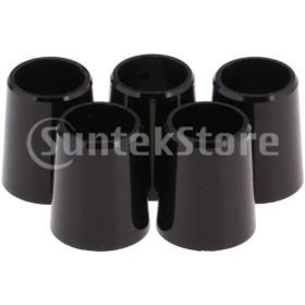 5本黒ゴルフシャフトスリーブフェルール.335.370キャップアダプターリング0.370