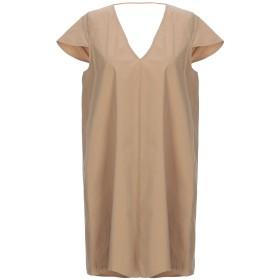 《セール開催中》,MERCI レディース ミニワンピース&ドレス キャメル 38 コットン 97% / ポリウレタン 3%
