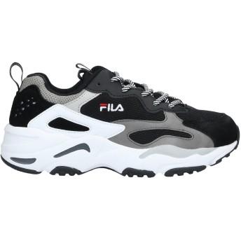《セール開催中》FILA レディース スニーカー&テニスシューズ(ローカット) ブラック 9.5 革 / 紡績繊維