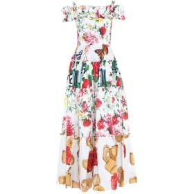 《セール開催中》DOLCE & GABBANA レディース ロングワンピース&ドレス ホワイト 36 コットン 100%