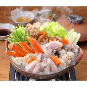 下関 関とら本店 蟹とふくの紅白ちり鍋詰合せ【出産/結婚の内祝いに】