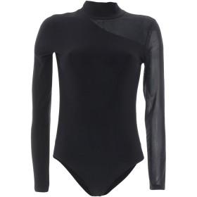 《期間限定セール開催中!》DKNY レディース T シャツ ブラック S ポリエステル 95% / ポリウレタン 5% / ナイロン