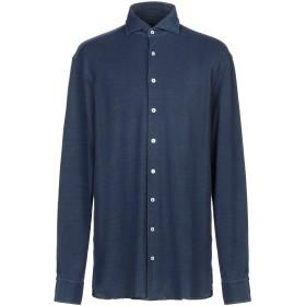 《セール開催中》LARDINI メンズ シャツ ダークブルー XL コットン 100%