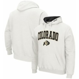 Colosseum コロセウム スポーツ用品  Colosseum Colorado Buffaloes White Arch & Logo Pullover Hoodie