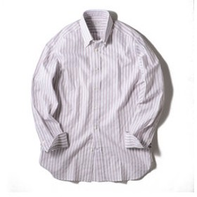【SHIPS:トップス】GUY ROVER: パナマ ストライプ ボタンダウンシャツ
