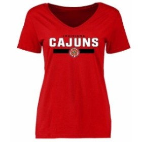 Fanatics Branded ファナティクス ブランド スポーツ用品  Louisiana-Lafayette Ragin Cajuns Womens Red Team Strong T-Shirt