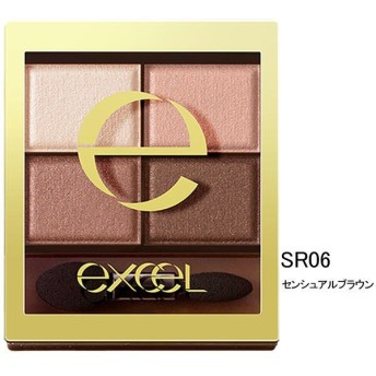 サナ excel(エクセル) スキニーリッチシャドウ SR06(センシュアルブラウン) 常盤薬品工業