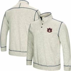 Colosseum コロセウム スポーツ用品  Colosseum Auburn Tigers Heathered Gray Bourbon Bowl 1/2-Button Up Jacket