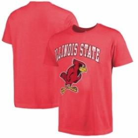 New Agenda ニュー アジェンダ スポーツ用品  Illinois State Redbirds Heathered Red Big Arch N Logo Ring Spun T-Shirt
