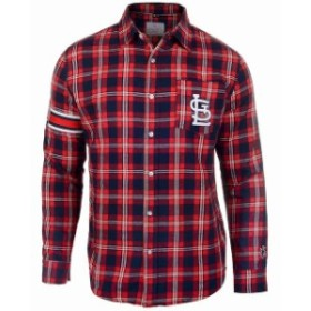 Forever Collectibles フォーエバー コレクティブル スポーツ用品  St. Louis Cardinals Red Wordmark Basic Flannel Button-Up Shirt