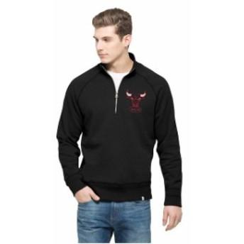 47 フォーティーセブン スポーツ用品  47 Chicago Bulls Black Cross Check Quater-Zip Pullover Jacket