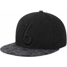 New Era ニュー エラ スポーツ用品  New Era Philadelphia 76ers Black Black On Black Team Variation 9FIFTY Adjustable Hat