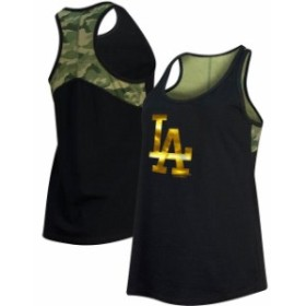 New Era ニュー エラ スポーツ用品  New Era Los Angeles Dodgers Womens Black Camo Racerback Tank Top