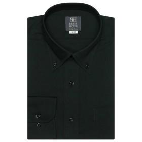[マルイ] 形態安定 ノーアイロン 長袖ワイシャツ ボタンダウン 黒 標準体/ブリックハウス(BRICKHOUSE)